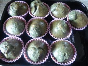 Upečené špenátové muffiny