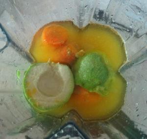mrkev a avokáda